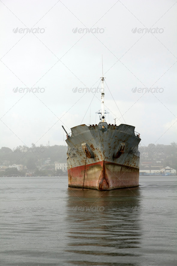 Merchant ship - Stock Photo - Images