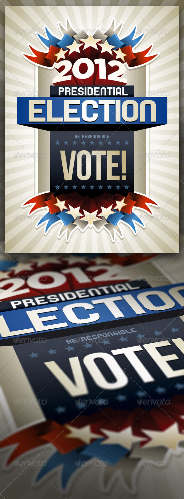 2012 American Presidential Election Poster - Miscellaneous Events