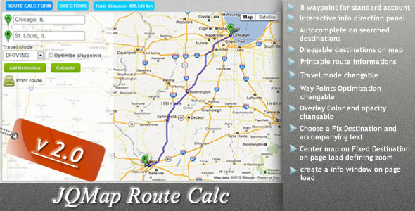 CodeCanyon JQMap Route Calc 1249325