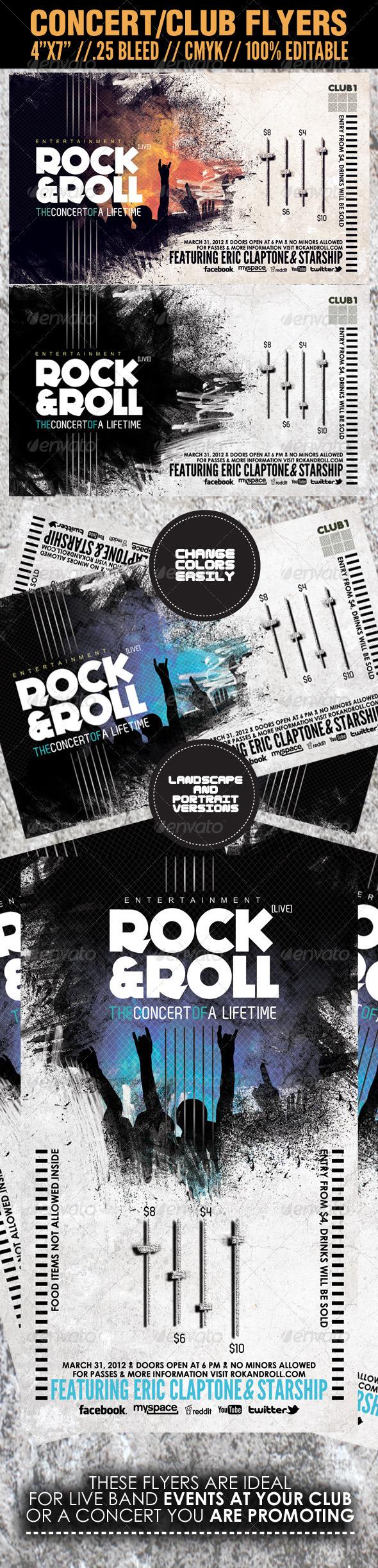 Adobe photoshop concert poster templates