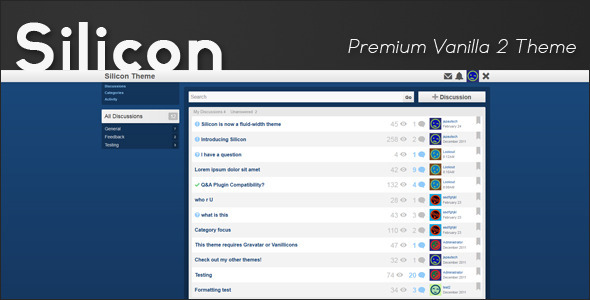 Silicon - Premium Vanilla 2 Theme - Vanilla Forums