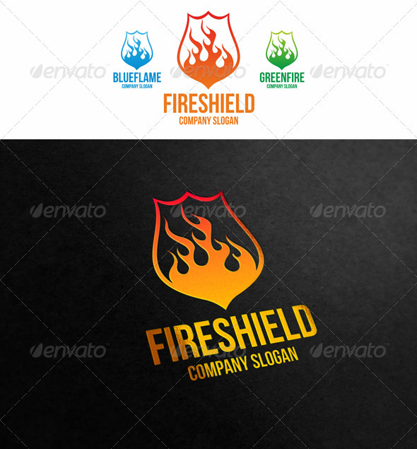 Fire Shield - Symbols Logo Templates
