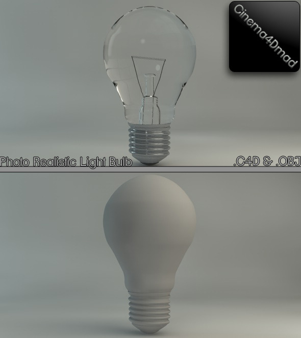 3DOcean Light bulb Photo realistic 1684365