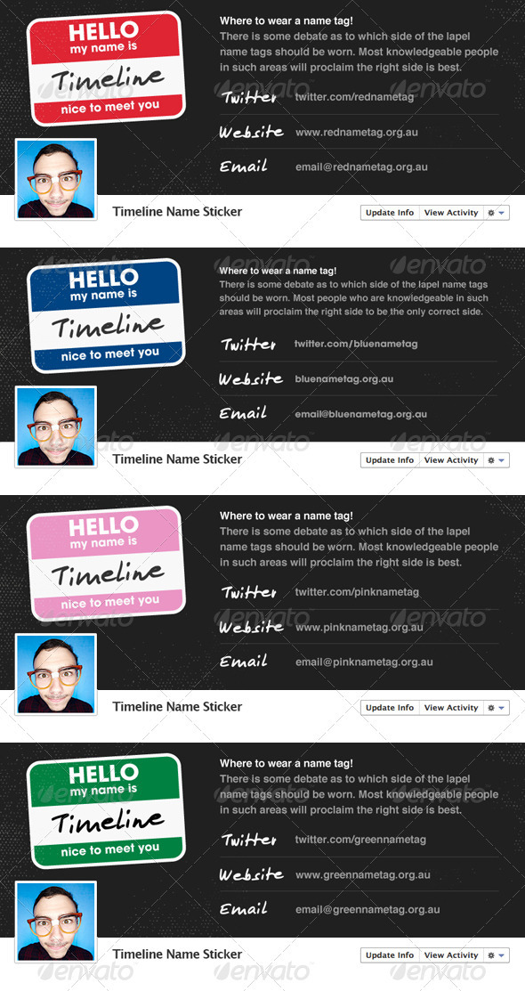 GraphicRiver Name Sticker Facebook Timeline 1664937