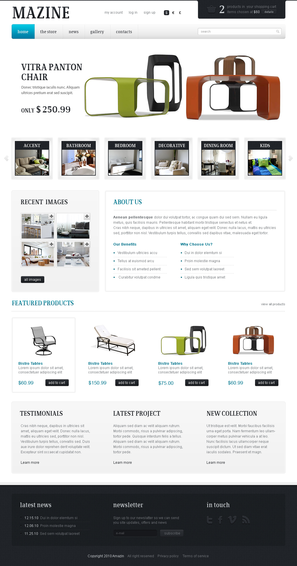 Mazine Wordpress Theme - A WP E-Commerce theme - Mazine theme home page