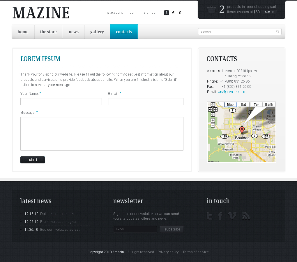 Mazine Wordpress Theme - A WP E-Commerce theme