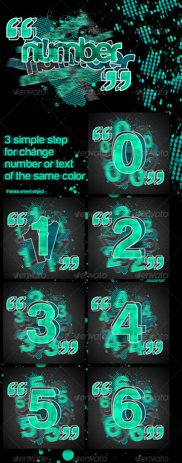 Change Number or Text in 3 Step - Miscellaneous Backgrounds