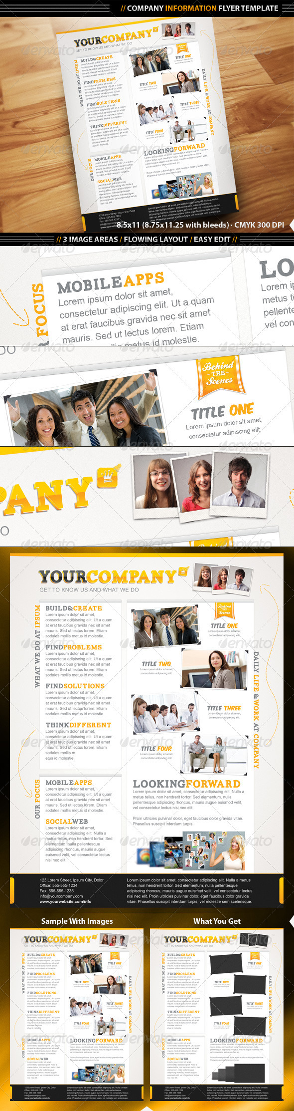 Company Info Flyer Template - Corporate Flyers