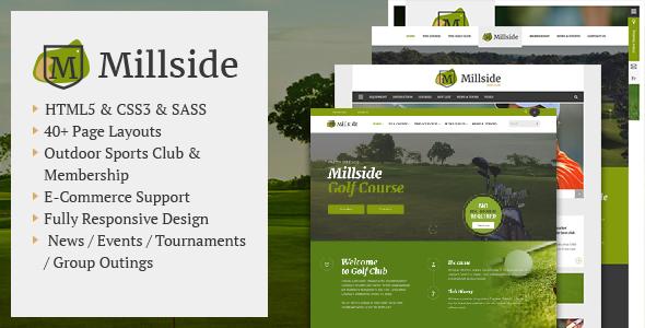 millside golf and sport website template by kopasoft themeforest. Black Bedroom Furniture Sets. Home Design Ideas