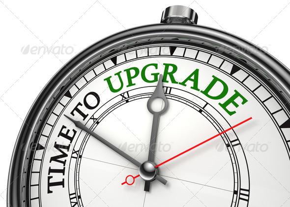 PhotoDune time to upgrade concept clock 1687966