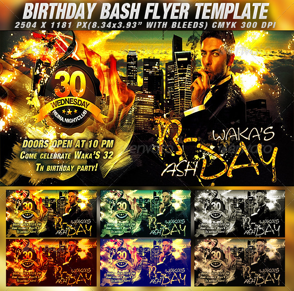 GraphicRiver Birthday Bash Flyer Template 821024