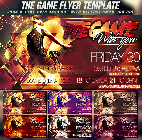 GraphicRiver The Game Flyer Template 786695