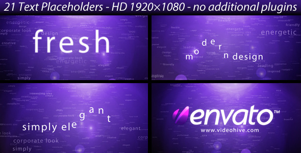 After Effects Project - VideoHive Creative text opener 1688061
