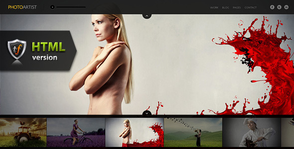 PhotoArtist - Photo Showcase HTML Theme - Photography Creative