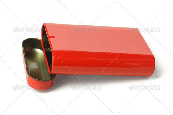 Open Red Metal Box - Stock Photo - Images