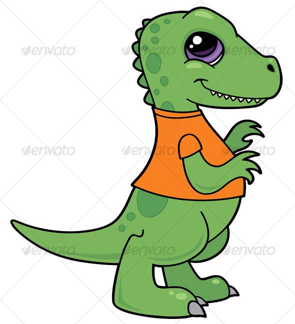 Graphic River Baby Tyrannosaurus Rex Dinosaur Vectors -  Characters  Animals 65974