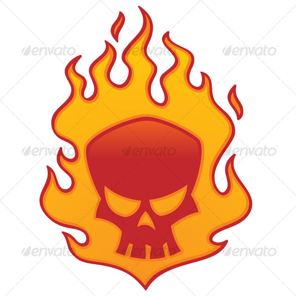 GraphicRiver Flaming Skull 65985