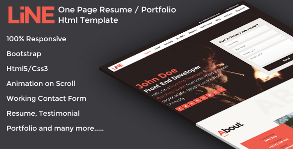 Resume portfolio template