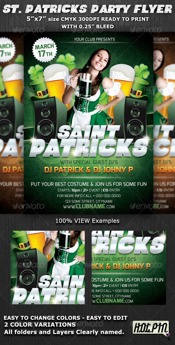 St.Patrick's Club-Party Flyer Template V5 - Holidays Events