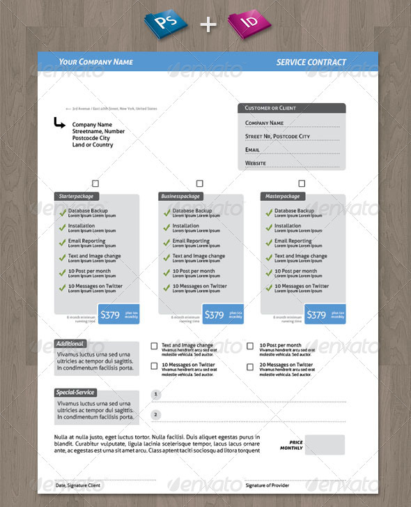 proposal and contract template .