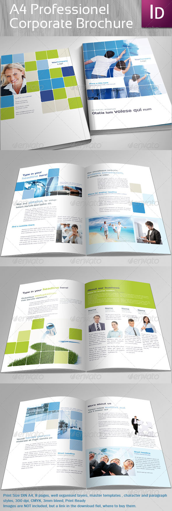 A4 Professional Coporate Brochure - Corporate Brochures