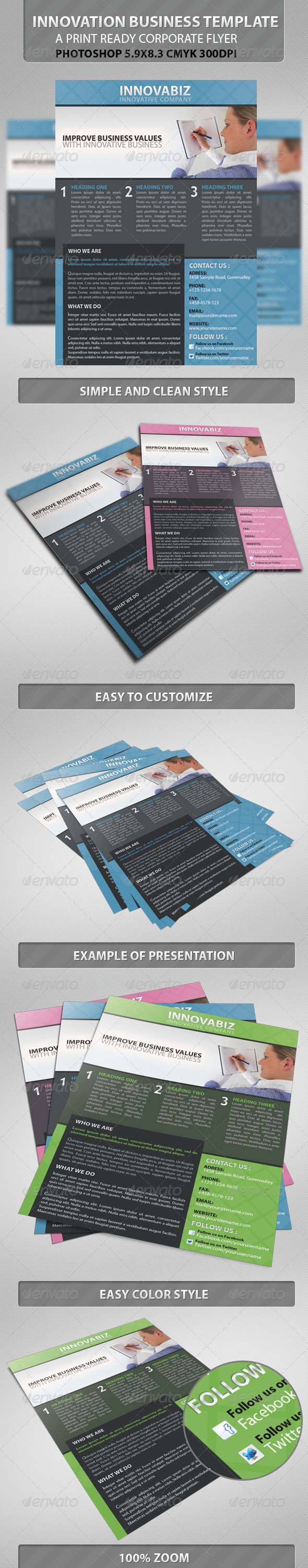 innovation Corporate PSD Flyer Template - Corporate Flyers