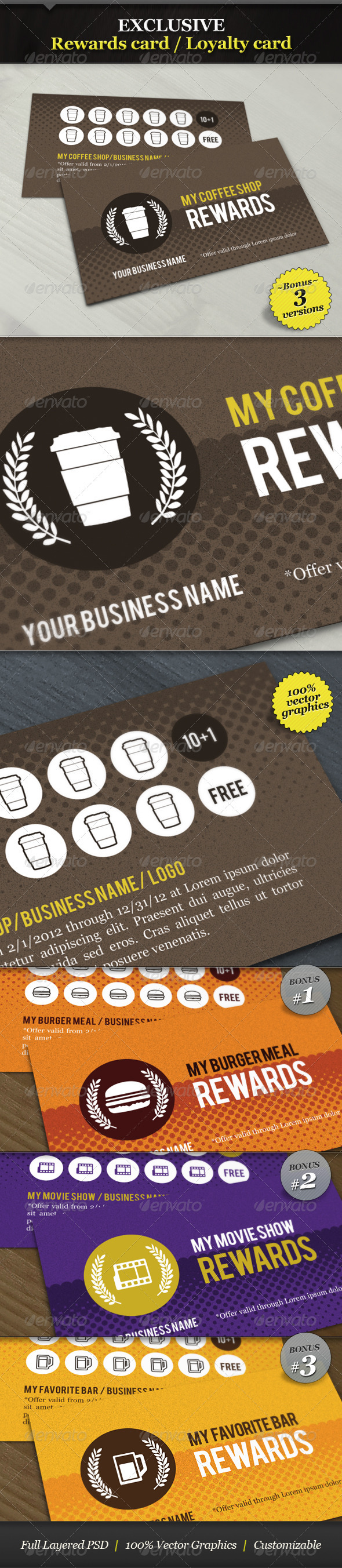 Coffee Shop Rewards Card / Loyalty Card - Loyalty Cards Cards & Invites