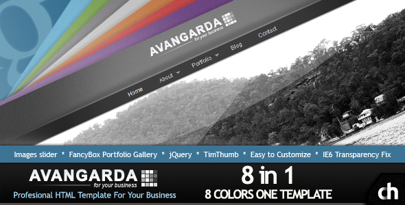 Avangarda - 8 in 1 Profesional Business-Portfolio - Avangarda Preview