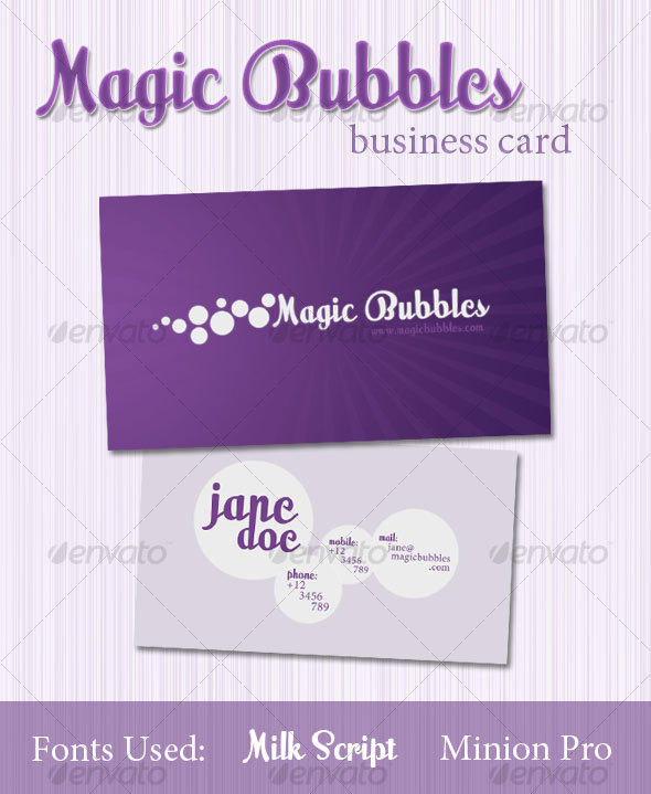 Magic Bubbles Business Card - Creative Business Cards