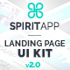 SpiritApp Landing Page UI K-Graphicriver中文最全的素材分享平台