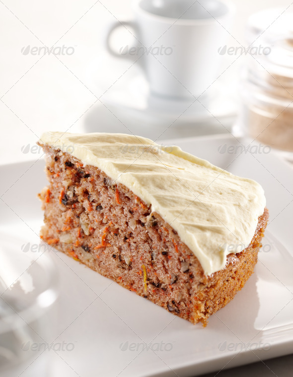carrot cheesecake - Stock Photo - Images