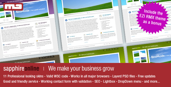 sapphireonline | We make your business grow - Corporate Site Templates