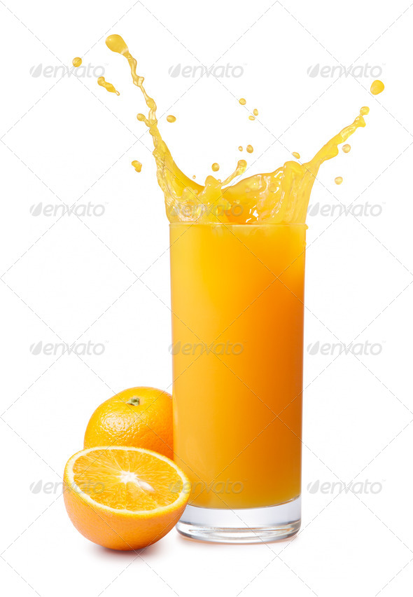 orange juice splash - Stock Photo - Images