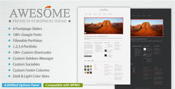 Awesome - Portfolio & Blog Magazine Theme