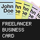 Freelancer Business Card - GraphicRiver Item for Sale