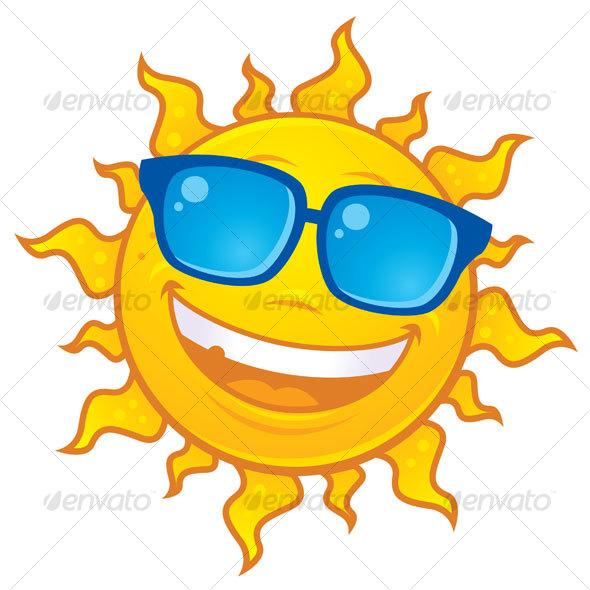 Summer Sun Wearing Sunglasses Graphicriver