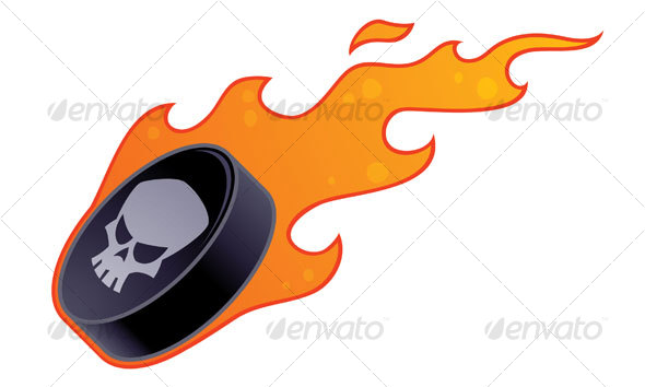 GraphicRiver Flaming Hockey Puck 66549