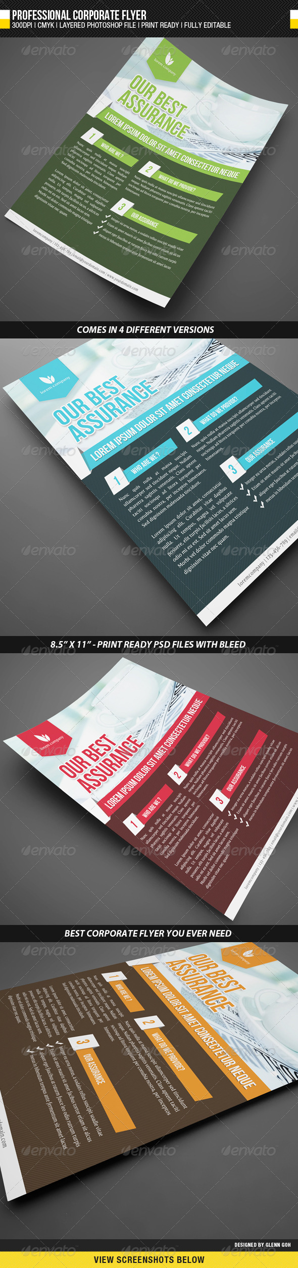 GraphicRiver Professional Corporate Flyer 1706346