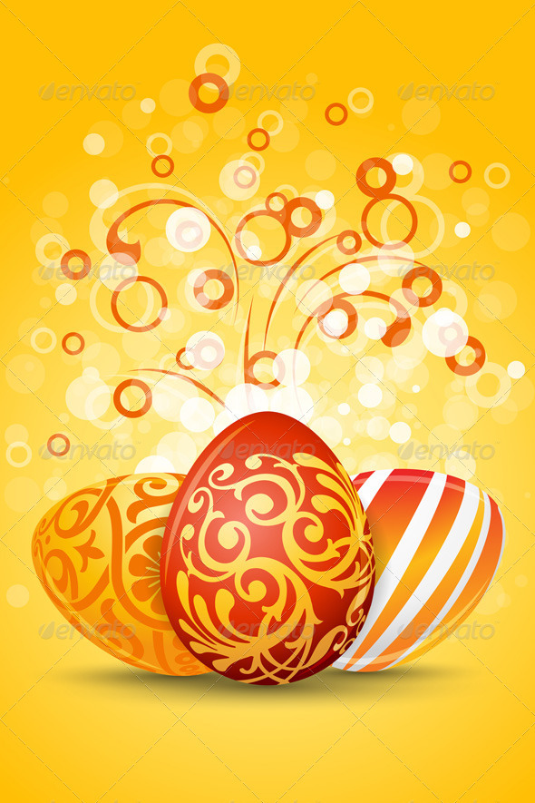Easter Eggs with Ornament Decoration - Seasons/Holidays Conceptual