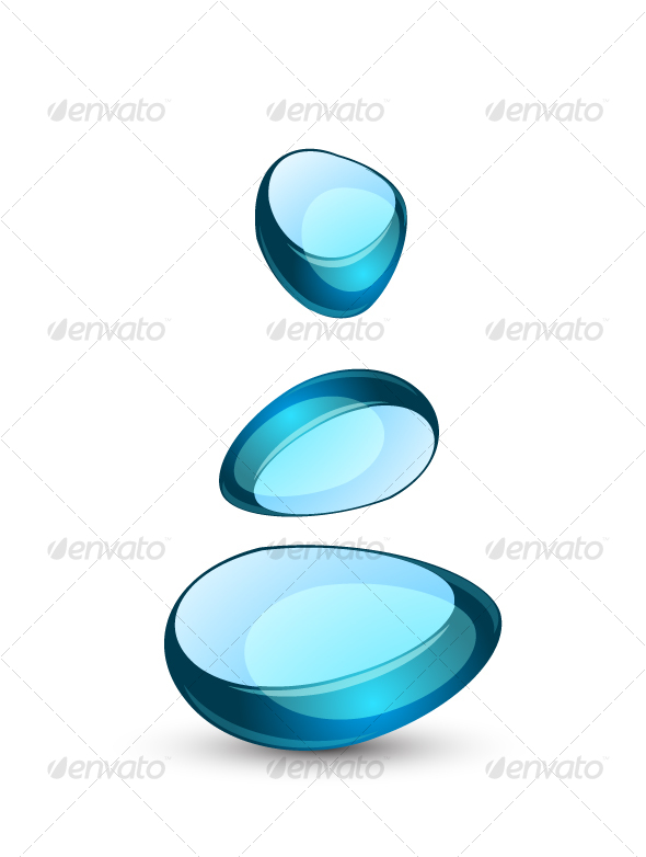 GraphicRiver Blue abstract glass symbol 66804