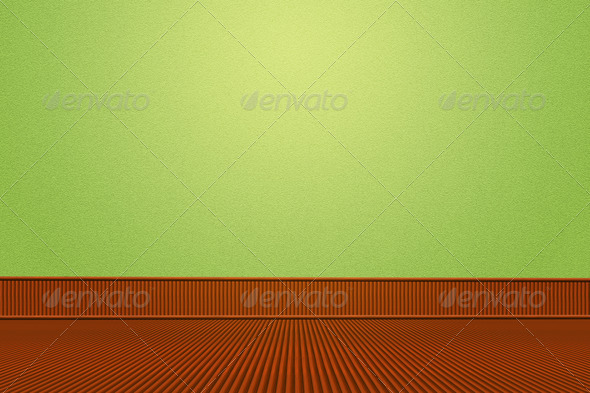 Room with Bamboo Floor - Stock Photo - Images