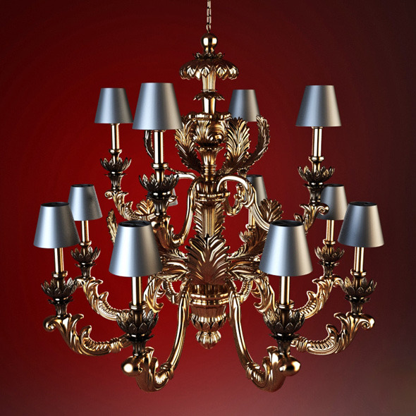 3DOcean High quality model of classic chandelier Chelini 1719626