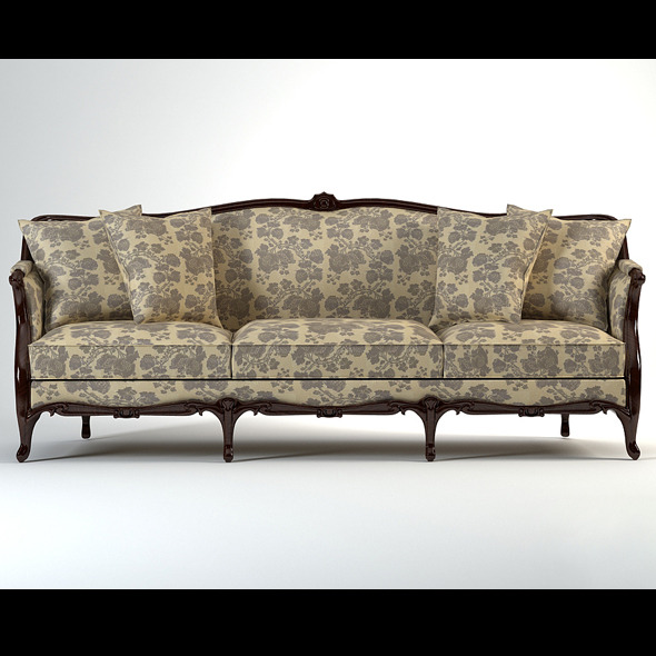 High quality model of classic sofa - 3DOcean Item for Sale