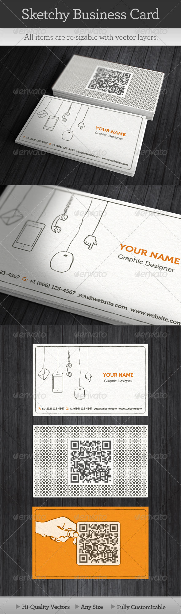 Sketchy Business Card - Creative Business Cards