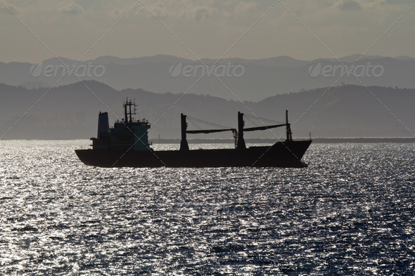 Silhouette of a Ship - Stock Photo - Images