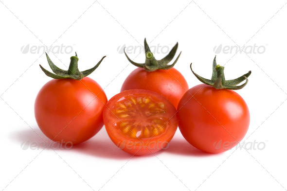 cherry tomatoes cutout - Stock Photo - Images