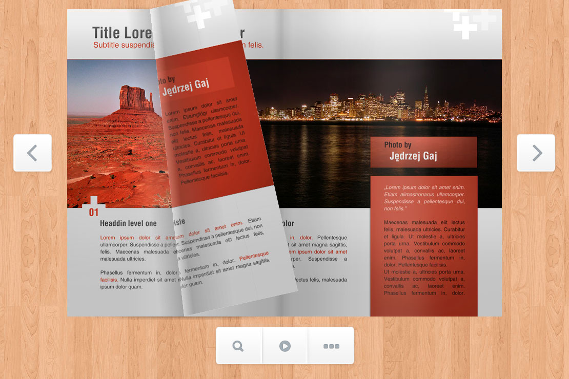 Responsive Flip Book powered by jQuery - Screenshot 5 - Brochure page turn