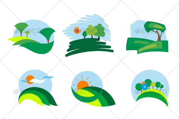 Nature icons - Decorative Vectors