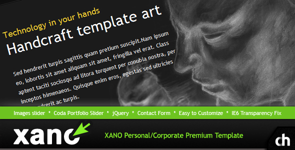 XANO Personal / Corporate Premium HTML Template - Xano Preview