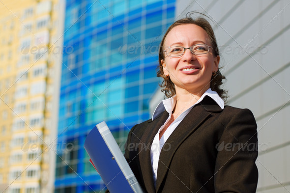 Happy Businesswoman - Stock Photo - Images